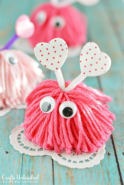 day crafts craft pom pom monsters tutorial