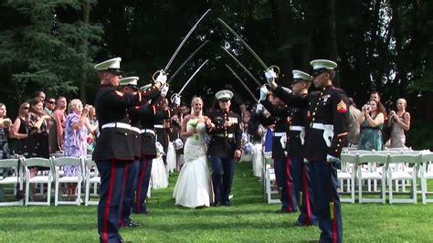 the arch of swords usmc wedding ceremony - Wedding Arch Of Swords