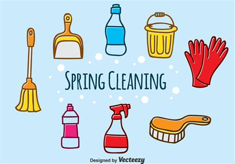 spring cleaning hand drawn spring cleaning vector download free vector