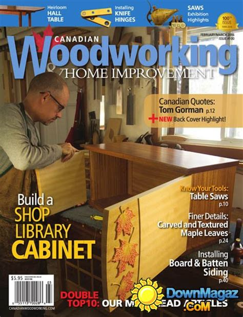 canadian woodworking home improvement  february