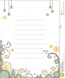 floral notebook template stock images image 9341624