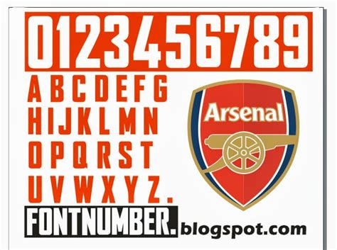 arsenal font arsenal chions league font vector 2012 2014 home shirt