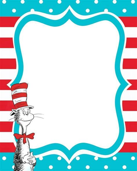 dr seuss invitations templates free 25 best ideas about borders free on border