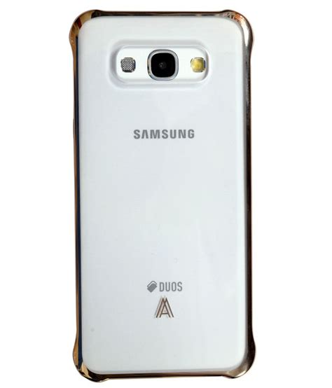Back Cover Samsung Galaxy samsung back cover for samsung galaxy a8 golden