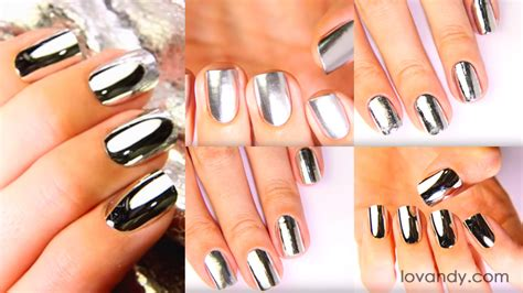 manicure at home how to make chrome nails top 5 ways tutorial