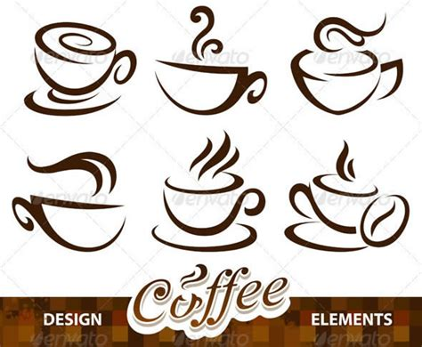 design elements pinterest vector set of coffee design elements ideas for shower