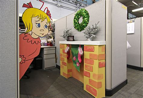 decorating office for christmas contest garage door decor office cube decorating contest mosby building arts