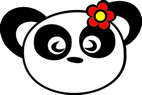 panda clipart flower panda clip at clker vector clip