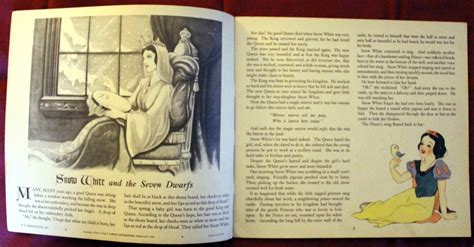 snow white story book with pictures filmic light snow white archive 1938 k k publications