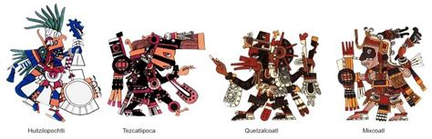 imagenes de los aztecas de los dioses religi 243 n azteca y dioses historia universal