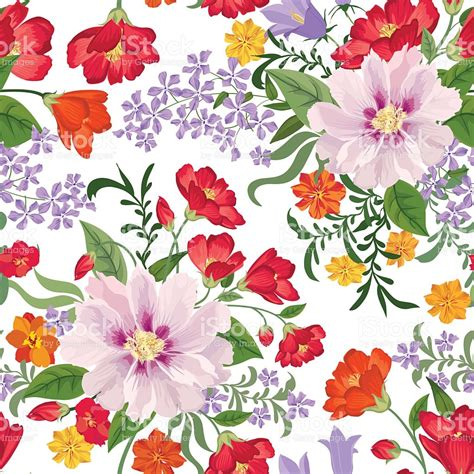 flower pattern stock illustrations floral seamless pattern flower background stock vector art