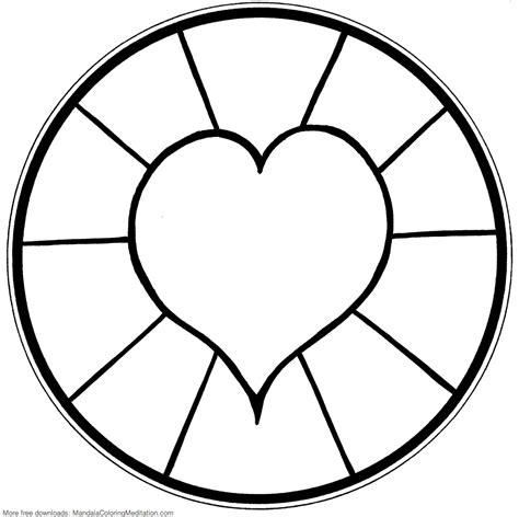 Simple Mandala Coloring Pages Download And Print For Free Free Simple Coloring Pages