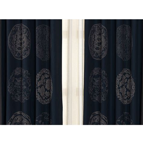 dark grey linen curtains dark blue and dark grey cotton and linen patterned shabby