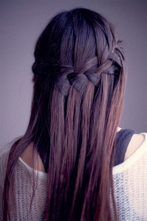 diy hairstyles waterfall braid how to make a beautiful waterfall braid waterfall braid