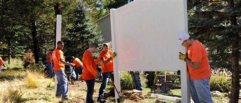 dozens of volunteers from local home depots on to