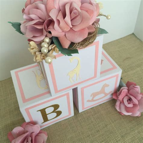 Large4 5 In Alphabet Blocks Baby Shower Decorations By Baby Block Centerpiece