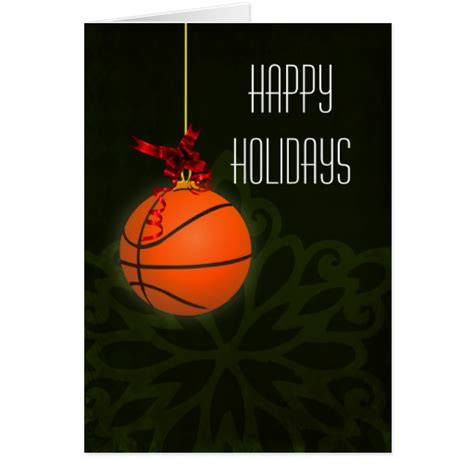 Christmas Gifts For Card Players - for a basketball player christmas cards zazzle