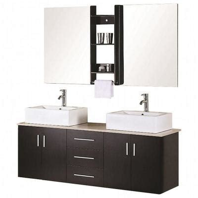 ava bathroom furniture design element dec004 ava 61 quot double sink vanity set in
