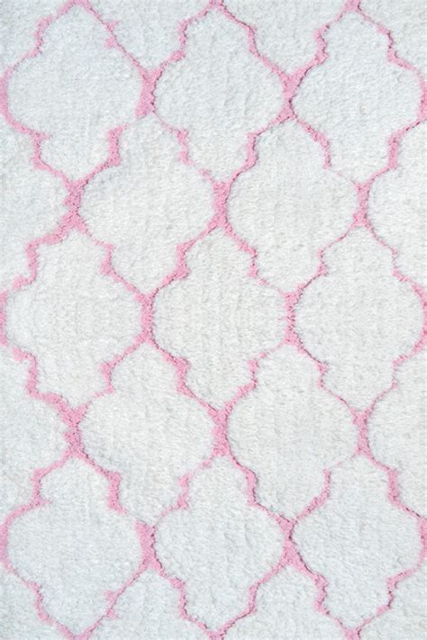 White And Pink Rug by Clouds Shag Rug In White And Pink By The Rug Market