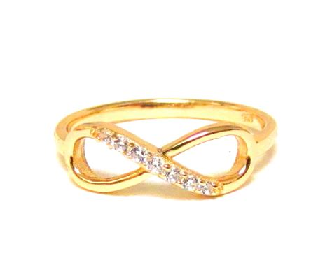 infinity ring 14 kt gold sterling silver ring with