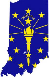 indiana flag map mapsof net