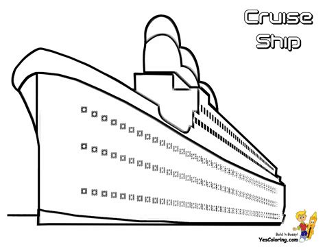 Coloring Page Cruise Ships Free Cruise Ship Cruise Cruise Ship Coloring Page