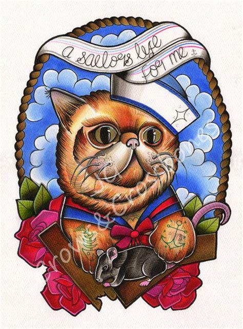tattoo flash printer a sailors life for me polydactyl cat a4 tattoo flash