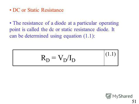 diode equation resistance презентация на тему quot unit 2 junction diode characteristics review of semi conductor physics