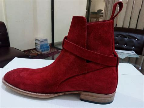Handmade Dress Boots - handmade jodhpur boots suede leather boot for