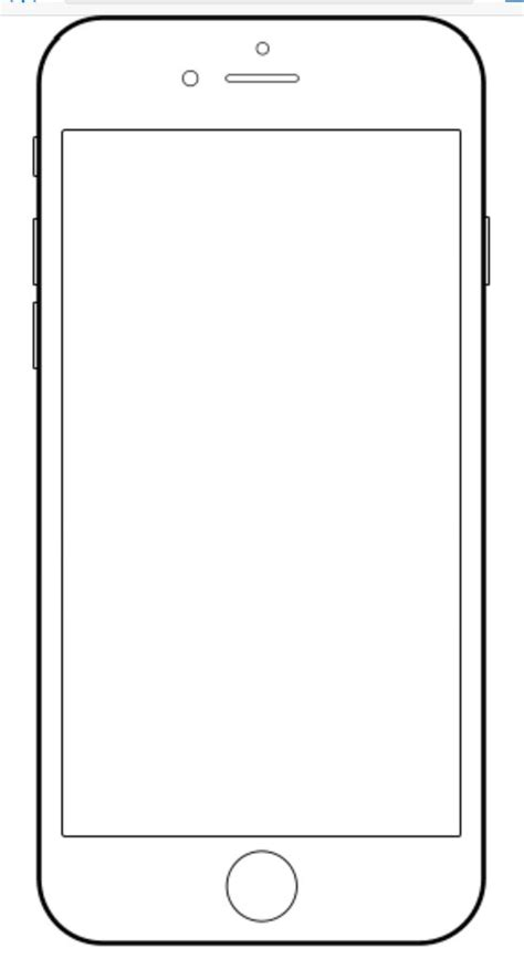 iphone blank template iphone template teaching personal