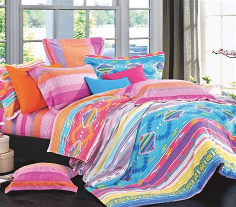 colorful twin bedding pure cotton azteca twin xl comforter set college ave