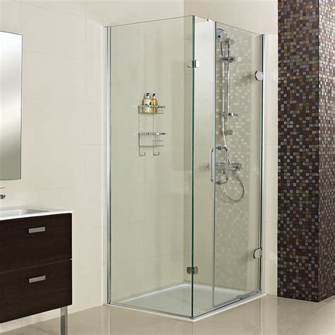 Hinged Shower Door With Side Panel by Decem Hinged Shower Door With One Inline Panel And Side Panel For Corner Fitting Showers