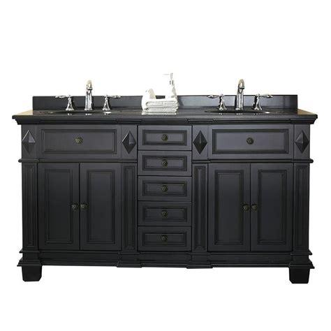 Shop Ove Decors Essex Antique Black Undermount Double Sink Antique Black Bathroom Vanity