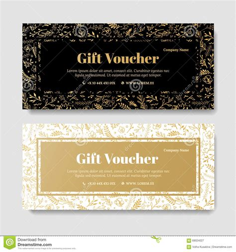 gift premium voucher coupon template stock illustration