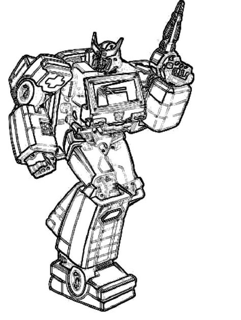 transformers coloring pages ratchet pin by angela webb on robots pinterest