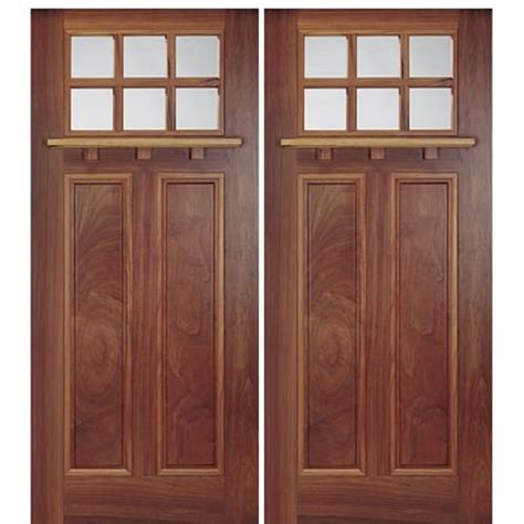 Arts And Crafts Entry Door Mai Doors A74 2 6 Lite Arts And Crafts Style Entry
