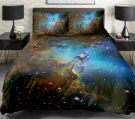 space bed sheets galaxy bedding set