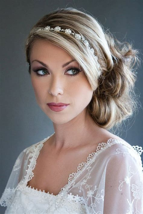 hairstyles with jeweled headband 607 best images about wedding hairstyles hair