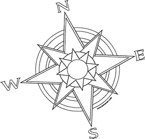 pirates compass rose printable coloring page