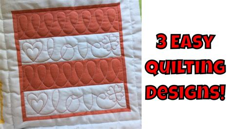 machine quilting tutorial for beginners three easy machine quilting designs beginner quilting