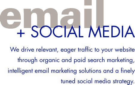 Email Social Media Search Email Marketing Social Media Creative Navigation