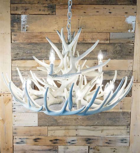 white antler chandelier white antler lights bone ivory white whitetail 15