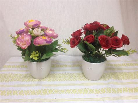 bunga meja mini bm  toko pohon  bunga plastik