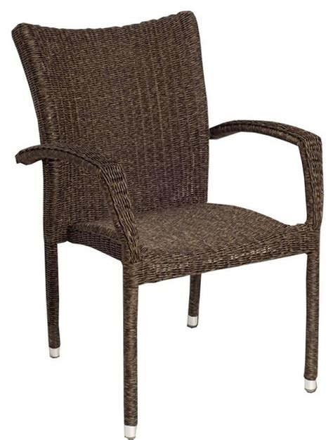 modern wicker accent chairs atlantic bari resin wicker stacking patio dining arm