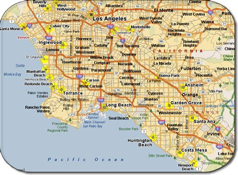 california map los angeles map of los angeles free printable maps