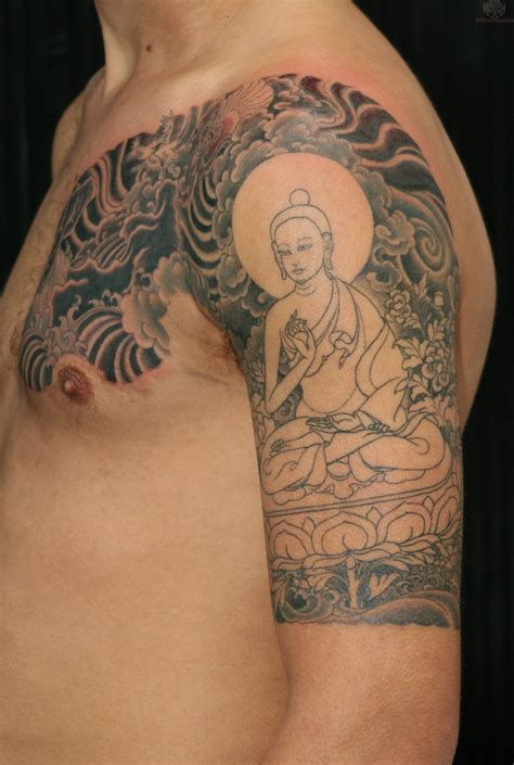 buddhist tattoos for men buddha half sleeve