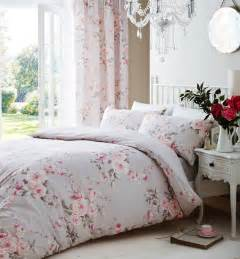 Grey And Pink Bedding Sets Catherine Lansfield Canterbury Grey Pink Duvet Quilt Cover Bedding Set 3 Sizes Ebay