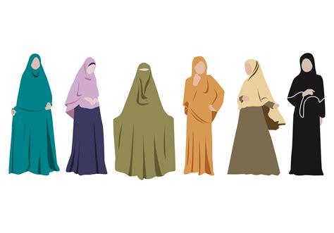 Baju Muslimah Vector free abaya vector free vector stock graphics images