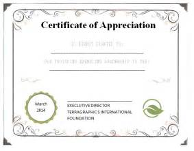 Templates For Certificates Of Appreciation Appreciation Certificate Templates Quotes