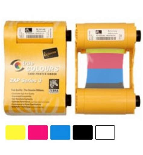 tattoo rw printer zebra 800033 840 ymcko color ribbon for zxp series 3